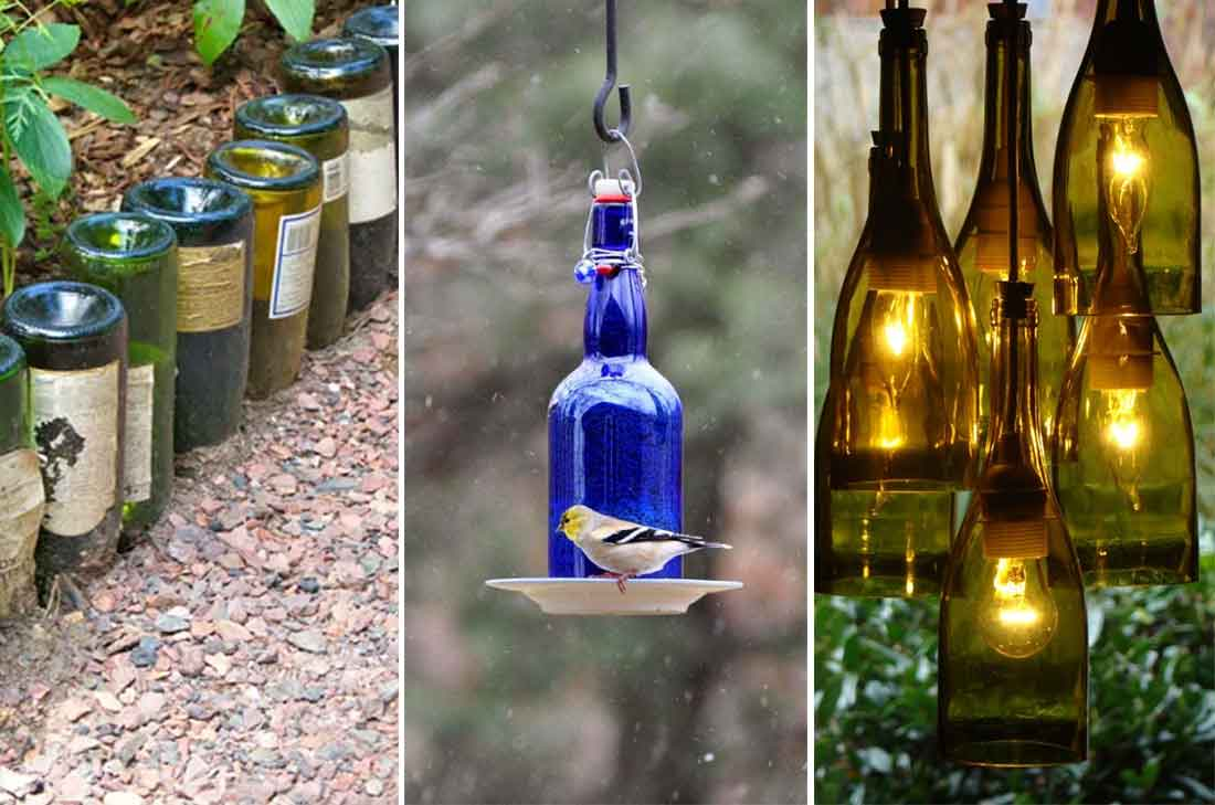 10 ideas incre blemente creativas para reciclar botellas for Reciclar botellas de vidrio